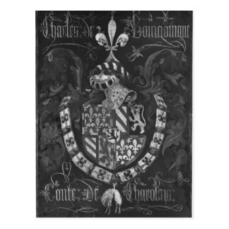 Coat of Arms of Charles de Bourgogne Postcard