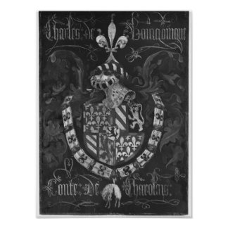 Coat of Arms of Charles de Bourgogne Poster