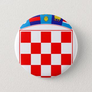 Coat of arms of Croatia, Croatian Emblem, Hrvatska 2 Inch Round Button