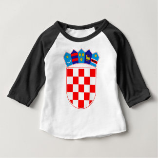 Coat of arms of Croatia, Croatian Emblem, Hrvatska Baby T-Shirt