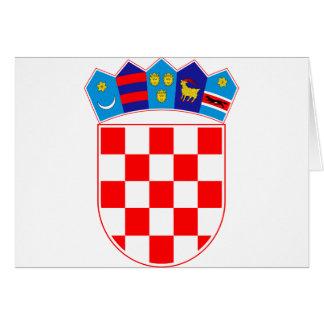 Coat of arms of Croatia, Croatian Emblem, Hrvatska Card