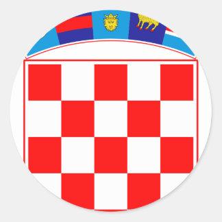 Coat of arms of Croatia, Croatian Emblem, Hrvatska Classic Round Sticker
