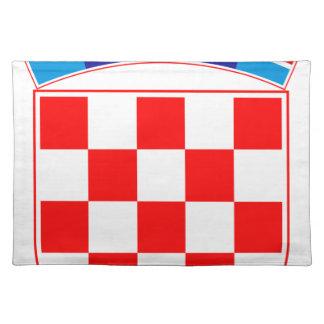 Coat of arms of Croatia, Croatian Emblem, Hrvatska Placemat