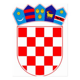 Coat of arms of Croatia, Croatian Emblem, Hrvatska Postcard