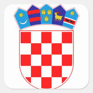 Coat of arms of Croatia, Croatian Emblem, Hrvatska Square Sticker