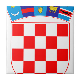 Coat of arms of Croatia, Croatian Emblem, Hrvatska Tile