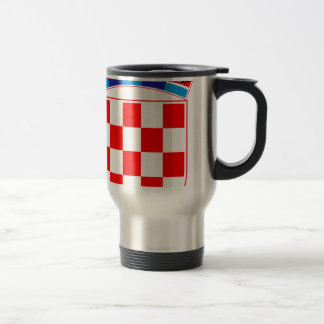 Coat of arms of Croatia, Croatian Emblem, Hrvatska Travel Mug