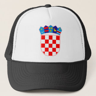 Coat of arms of Croatia, Croatian Emblem, Hrvatska Trucker Hat