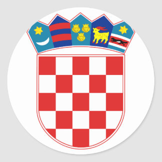Coat of Arms of Croatia Round Sticker