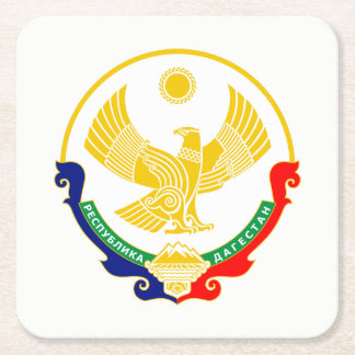 Coat of arms of Dagestan Square Paper Coaster