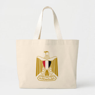 Coat_of_arms_of_Egypt_(Official) Large Tote Bag