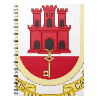 Coat_of_Arms_of_Gibraltar Spiral Note Books