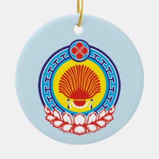 Coat of arms of Kalmykia Ceramic Ornament