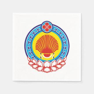 Coat of arms of Kalmykia Paper Napkin