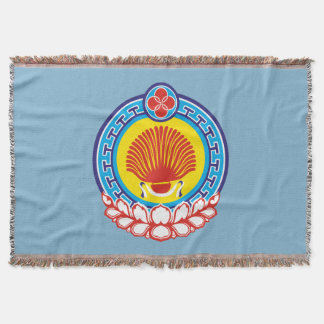 Coat of arms of Kalmykia Throw Blanket