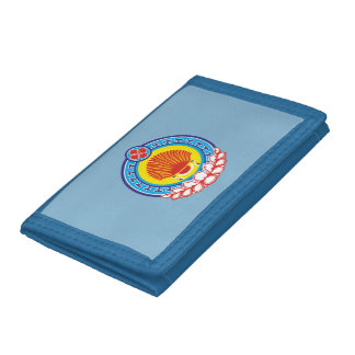 Coat of arms of Kalmykia Trifold Wallet