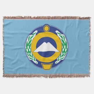 Coat of arms of Karachay-Cherkessia Throw Blanket