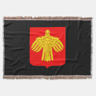 Coat of arms of Komi Throw Blanket