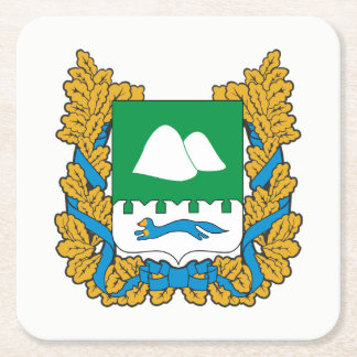 Coat of arms of Kurgan oblast Square Paper Coaster