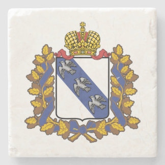 Coat of arms of Kursk oblast Stone Coaster