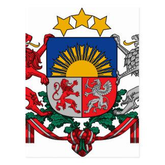 Coat of arms of Latvia - Latvijas ģerbonis Postcard