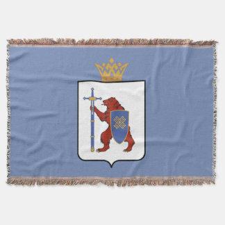 Coat of arms of Mari El Throw Blanket