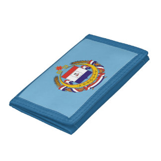 Coat of arms of Mordovia Trifold Wallets