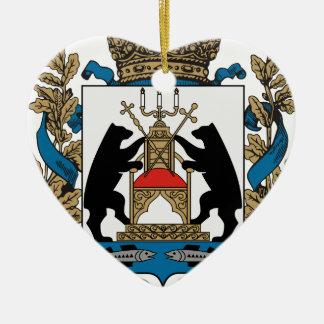 Coat_of_arms_of_Novgorod_Oblast Ceramic Heart Ornament