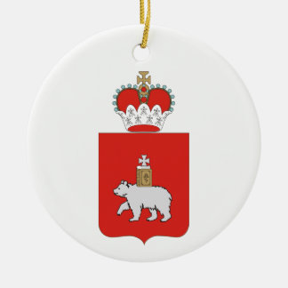 Coat of arms of Perm krai Ceramic Ornament