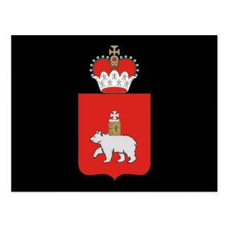 Coat of arms of Perm krai Postcard