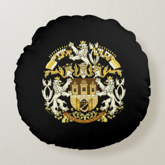 Coat of Arms of Prague Round Pillow