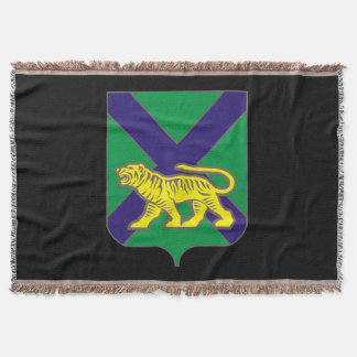 Coat of arms of Primorsky krai Throw Blanket