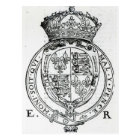 Coat of Arms of Queen Elizabeth I Postcard