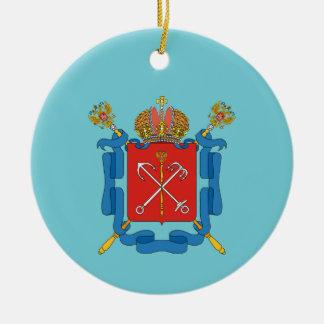 Coat of arms of Saint Petersburg Ceramic Ornament