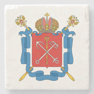 Coat of arms of Saint Petersburg Stone Coaster