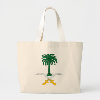 Coat_of_arms_of_Saudi_Arabia Large Tote Bag
