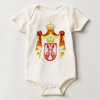 Coat_of_arms_of_Serbia_(2004-2010) Baby Bodysuit