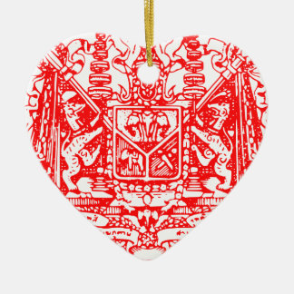 Coat_of_Arms_of_Siam_(Royal_Warrant) Ceramic Heart Ornament