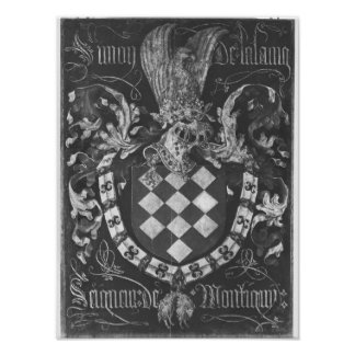Coat of Arms of Simon de Lalaing Poster