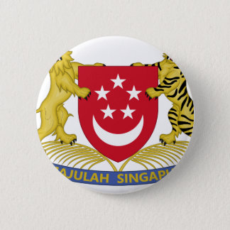 Coat of arms of Singapore 新加坡国徽 Emblem 2 Inch Round Button