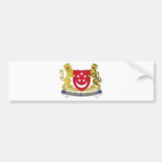 Coat of arms of Singapore 新加坡国徽 Emblem Bumper Sticker