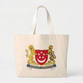 Coat of arms of Singapore 新加坡国徽 Emblem Large Tote Bag