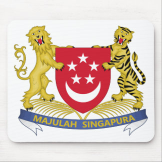 Coat of arms of Singapore 新加坡国徽 Emblem Mouse Pad