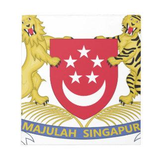 Coat of arms of Singapore 新加坡国徽 Emblem Notepad