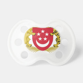 Coat of arms of Singapore 新加坡国徽 Emblem Pacifier