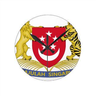 Coat of arms of Singapore 新加坡国徽 Emblem Round Clock