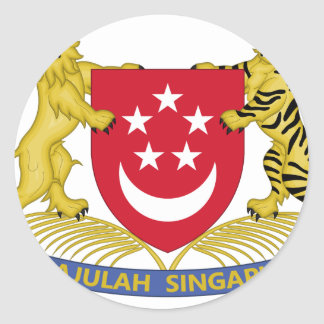 Coat of arms of Singapore 新加坡国徽 Emblem Round Sticker