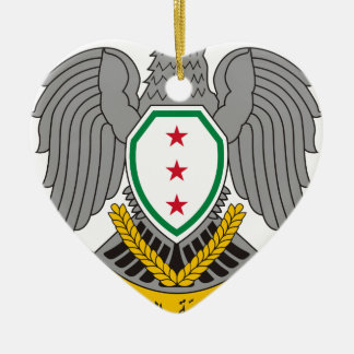 Coat_of_arms_of_Syria-1957 Ceramic Heart Ornament