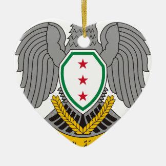 Coat_of_arms_of_Syria-1957 Ceramic Ornament