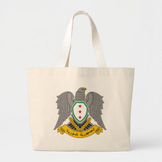 Coat_of_arms_of_Syria-1957 Large Tote Bag